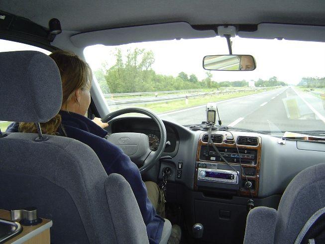 ons buske tijdens het rijden Croatie
