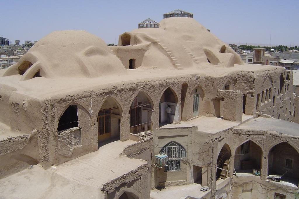 Echte woestijn huizen - De gevels van de huizen ...
